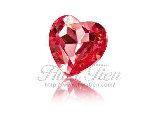 Heart Acrylic Gemstones, High Quality with Fair Price