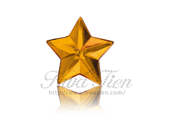 Star Acrylic Gemstone Made by Taiwan Gemstone Factory